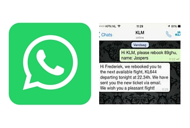 Use WhatsApp to rebook your cancelled flight