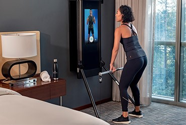 Four Seasons: a fitness center in your room