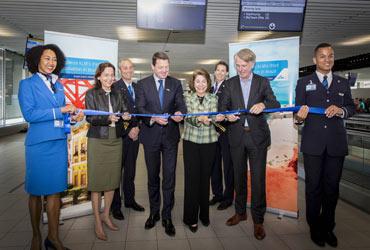 Inaugural KLM flight to Brazilian Fortaleza