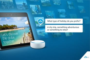 KLM offers inspiration with Travel Guide on Amazon Alexa