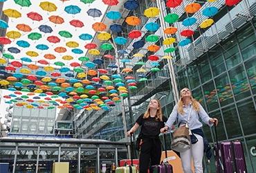 Heathrow's super umbrella artwork