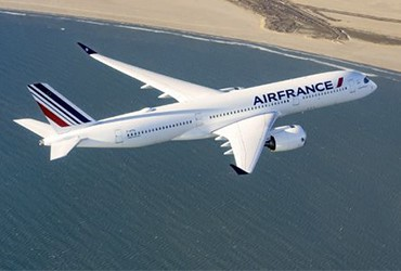 Air France welcomes it's 1st Airbus A350