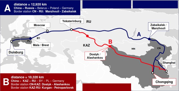 DB Schenker beats sea freight with 12,000 km rail connection | bluebiz