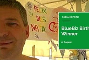 The BlueBiz birthday winner of August is Fabiano Pozzi from Italy. He won two tickets to an Air France KLM destination of his choice.